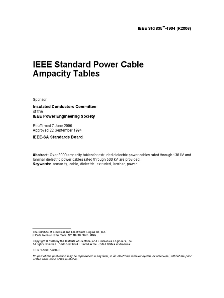 Previews ieee 835 1994 pre cable institute of electrical and previews ieee 835 1994 pre cable institute of electrical and electronics engineers greentooth Choice Image