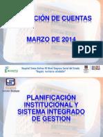 Rendicion de Cuentas 20140314 Oficina Planeacion y Grupo Calidad
