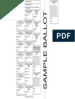 Nonpartisan general election ballot