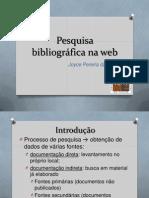 Pesquisa Bibliográfica Na Web