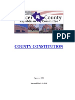 Mercer County Republican Constitution and Bylaws