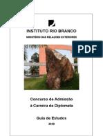 Guia de Estudos Rio Branco