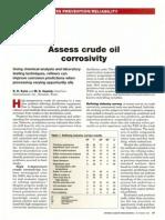Assess Crude Oil Corrosivity