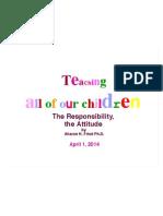 teaching all the children antwerp  april 1 2014