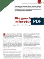 Biogas Fuelled Micro Turbines
