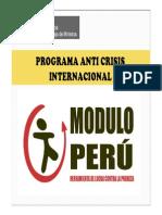 Programa Anticrisis Internacional Modulo Peru