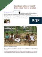 Sri Lanka Political Thugs Take Over Tourist Sea-sides Victimes Afraid Even to Complain