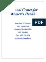 National Center for Women's Health