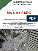 NO MAS FARC Colombia febrero 4 de 2008