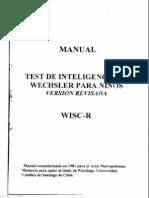 Manual WISC-R (Test de Inteligencia Wechsler para Niños)