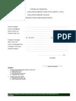 Formulir KBAD Dan KBU 2014