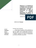Proy de Ley Administrador Provisional y Administrador de Cierre