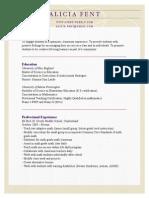 fancy resume