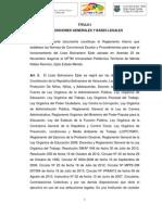 Reglamento Interno o Manual de Convivencia 2014