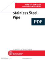 ASME B36.19M Stainless Steel Pipes