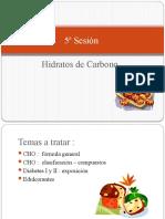 5ª Sesión Hidratos de carbono