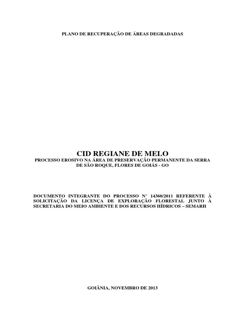 PLANO DE RECUPERAÇÃO DE ÁREAS DEGRADADAS - PRAD a35eed9a8d