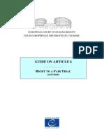 Guide Art 6 ENG - Jurisprudenta Curtii Europene a Drepturilor Omului