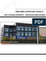Investment Opportunity No. 30762131 - Self Storage Property in Northern Ontario, Canada