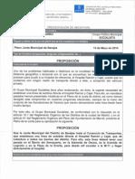 Prop Para Establecer Linea Autobús Ramón y Cajal