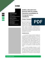 Informe de Gerencia Ferreycorp y Subsidiarias 1t2014 Espaniol