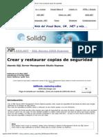 SQL Server_ Crear y Restaurar Copias de Seguridad