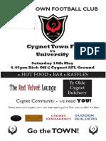Cygnet Town FC Flyer
