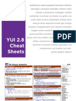 YUI 2.8.0 Cheat Sheet Packet