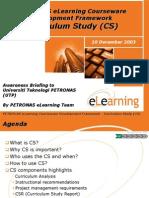 Framework Awareness CS 31Oct2003 AA
