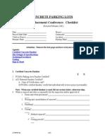 p Replacement Checklist