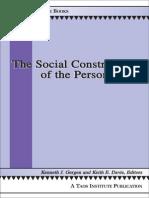 Gergen (2012) Libro the Social Construction of the Person