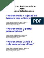 Concurso Astronomia e Arte.slogans Selecionados