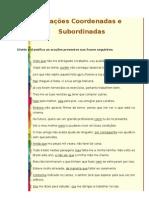 Oracoes Coordenadas e Subordinadas+Correccao