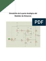 Simulación de la parte Analógica del Medidor de Distancia