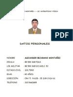 Hoja de Vida de Alexander Bejarano m 2