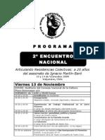 Programa II Encuentro de Comunitarios.cl 2009