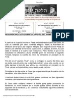 Resumen Halajico Sobre La Cuenta Del Omer.
