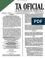 Gaceta Oficial 6130 2014
