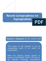 Recent Jurisprudence on Expropriation