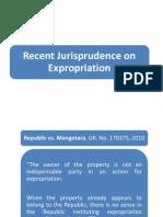 Recent Jurisprudence on Expropriation