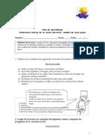 Guía de aprendizaje - modelo quinario - 8 y 1° medio - Jonathan Villar H