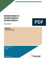 datasheet MC68HC908QC16