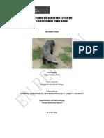 Estudio de Especies Cites de Carnívoros Peruanos
