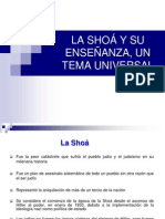 La Shoá y Su Enseñanza Un Tema Universal III