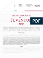 Convocatoria 2014 Premio Nacional de Juventud