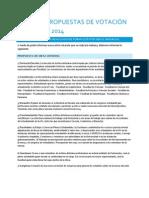 Análisis Propuestas de Votación 9 de Mayo 2014