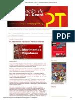 Articulação de Esquerda - Ceará_ PT, Movimentos Populares e Políticas Setoriais