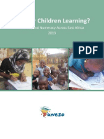 UWEZO REPORT 2013 - The state of Literacy and Numeracy Across East Africa