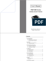 Prp080 Thermal Receipt Printer Manual