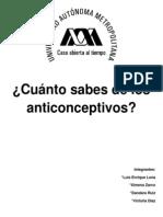Cuanto Sabes de Los Anticonceptivos